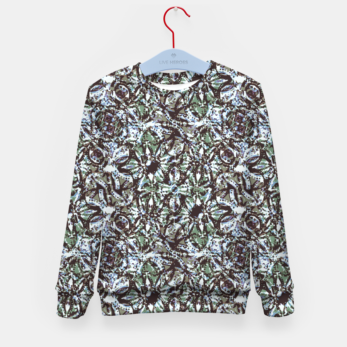 Image of Textured Ornate Design Pattern Kid's sweater - Live Heroes