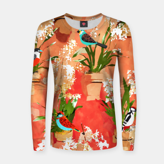 Birds of different feathers flock together Women sweater thumbnail image