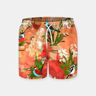 Birds of different feathers flock together Swim Shorts thumbnail image