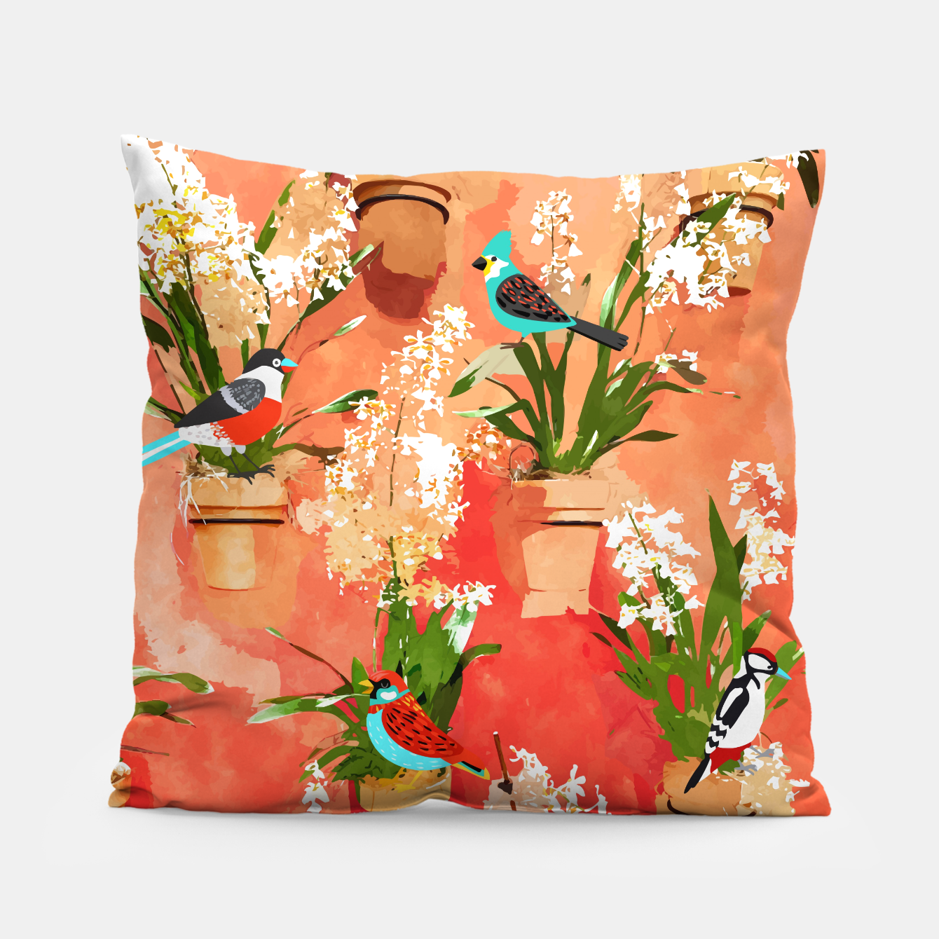 Image of Birds of different feathers flock together Pillow - Live Heroes