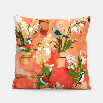 Birds of different feathers flock together Pillow thumbnail image