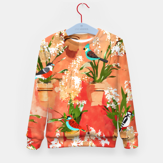 Birds of different feathers flock together Kid's sweater thumbnail image