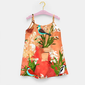 Birds of different feathers flock together Girl's dress thumbnail image