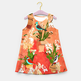 Birds of different feathers flock together Girl's summer dress thumbnail image