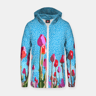 Thumbnail image of Tiptoe Through The Tulips With Me Zip up hoodie, Live Heroes