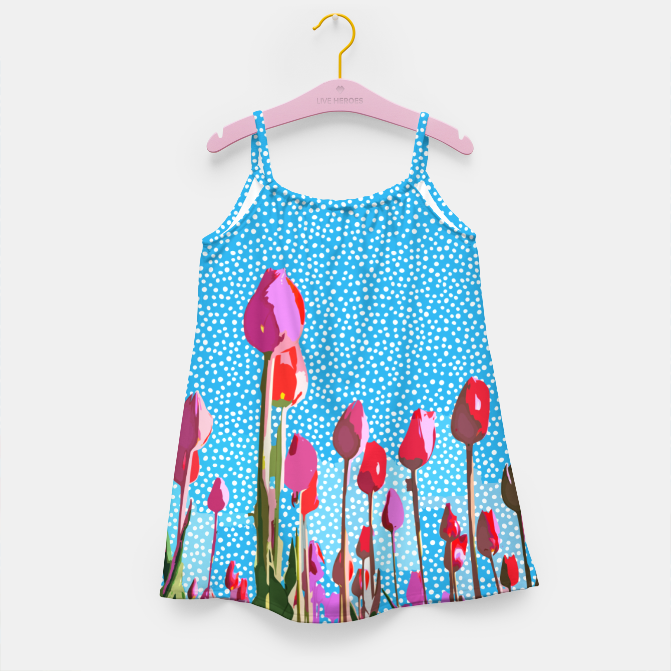 Image of Tiptoe Through The Tulips With Me Girl's dress - Live Heroes