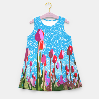 Tiptoe Through The Tulips With Me Girl's summer dress thumbnail image