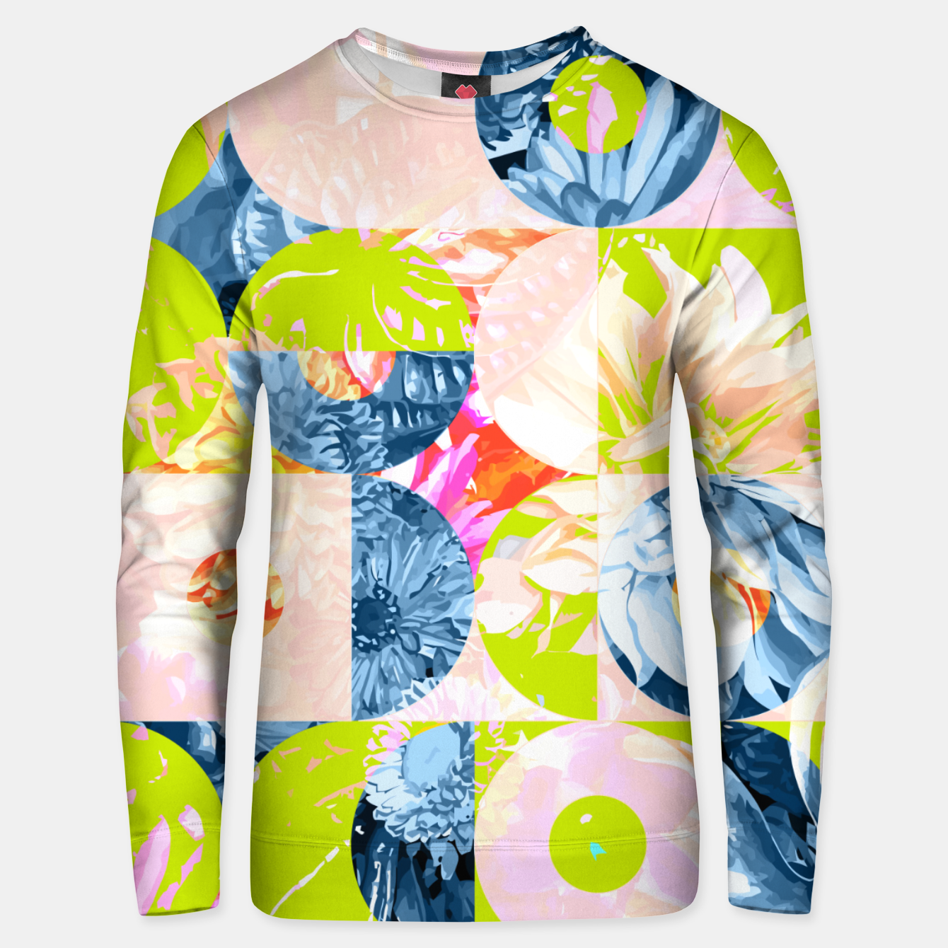 Image of Cupid and Psyche Graphic Floral  Unisex sweater - Live Heroes