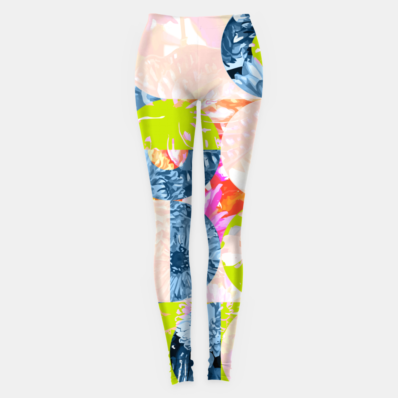Image of Cupid and Psyche Graphic Floral  Leggings - Live Heroes