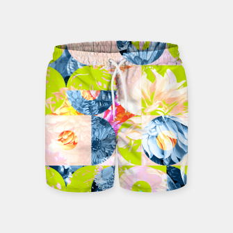Cupid and Psyche Graphic Floral  Swim Shorts thumbnail image
