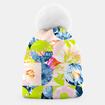 Cupid and Psyche Graphic Floral  Beanie thumbnail image