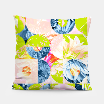 Cupid and Psyche Graphic Floral  Pillow thumbnail image
