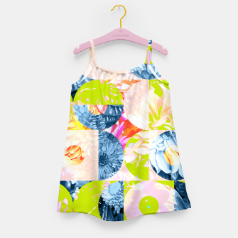 Cupid and Psyche Graphic Floral  Girl's dress thumbnail image