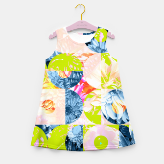 Cupid and Psyche Graphic Floral  Girl's summer dress thumbnail image