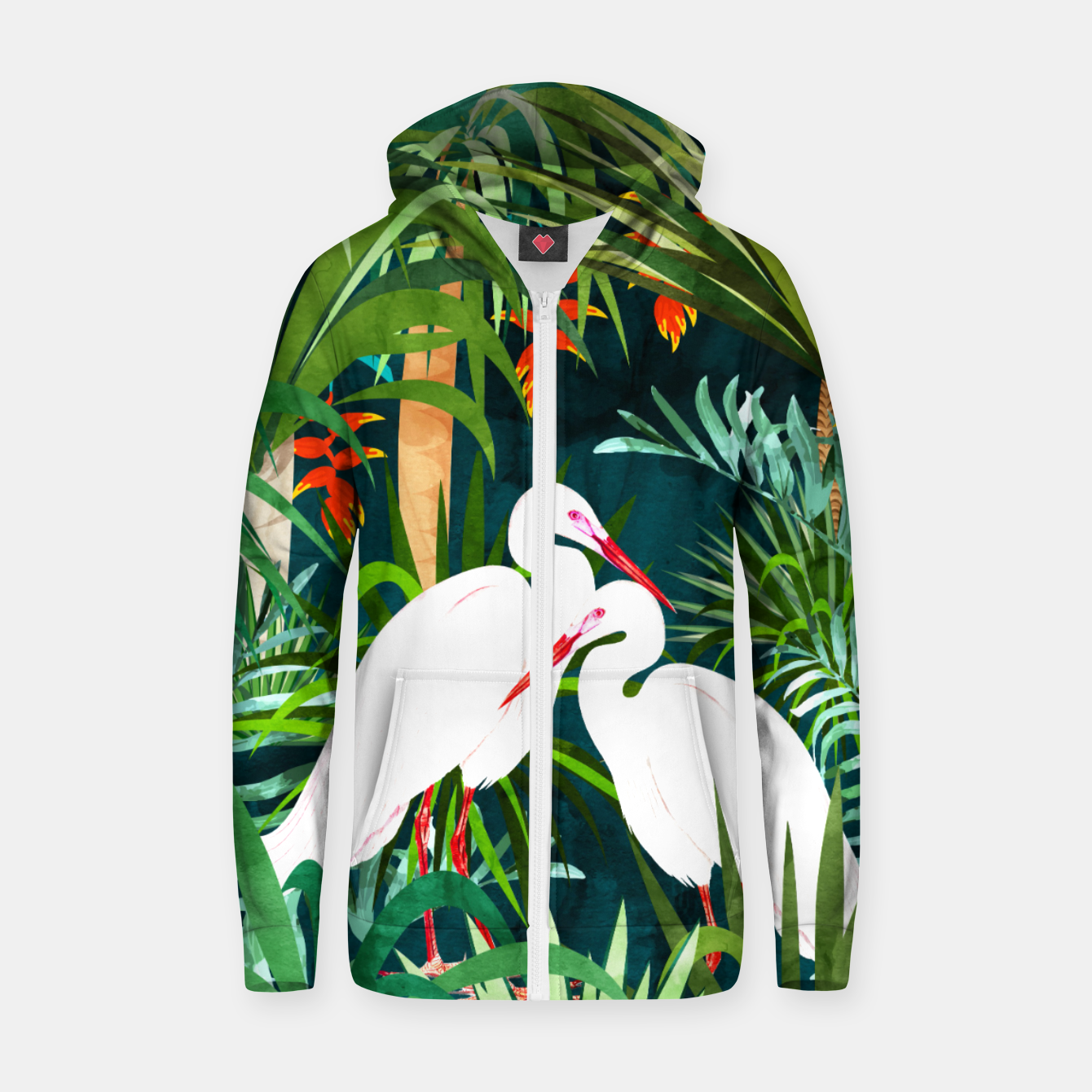 Image of To Me, You're The Perfect Heron Zip up hoodie - Live Heroes