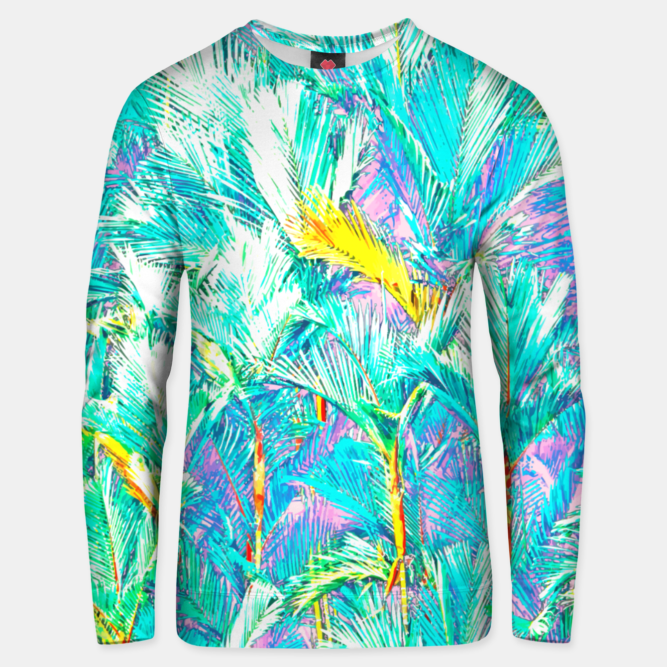 Zdjęcie Palm Garden, Tropical Nature Jungle Painting Unisex sweater - Live Heroes