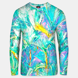 Thumbnail image of Palm Garden, Tropical Nature Jungle Painting Unisex sweater, Live Heroes