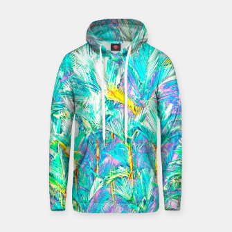 Miniaturka Palm Garden, Tropical Nature Jungle Painting Hoodie, Live Heroes
