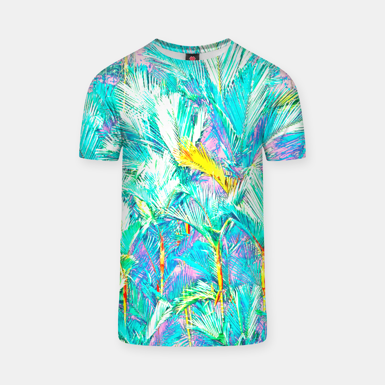 Image of Palm Garden, Tropical Nature Jungle Painting T-shirt - Live Heroes