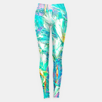 Thumbnail image of Palm Garden, Tropical Nature Jungle Painting Leggings, Live Heroes