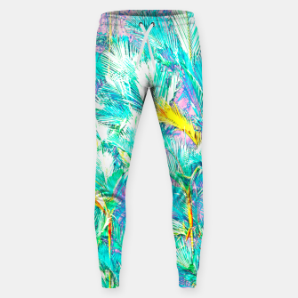 Thumbnail image of Palm Garden, Tropical Nature Jungle Painting Sweatpants, Live Heroes