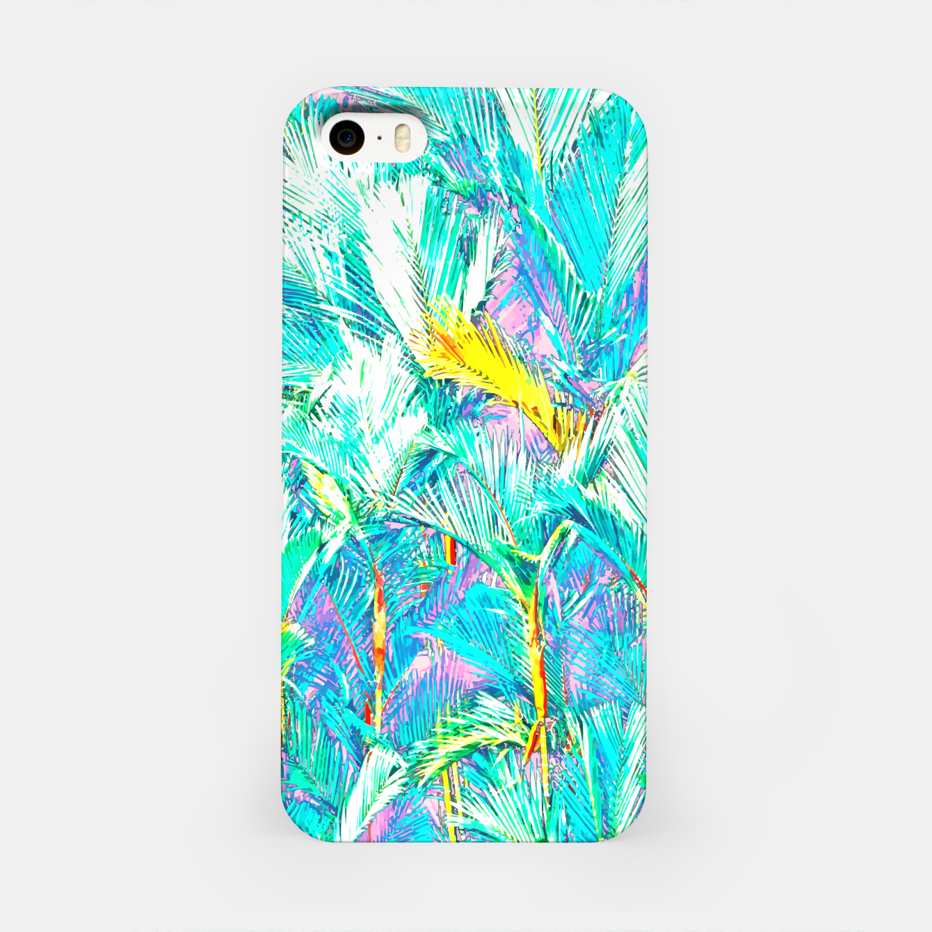 Image of Palm Garden, Tropical Nature Jungle Painting iPhone Case - Live Heroes