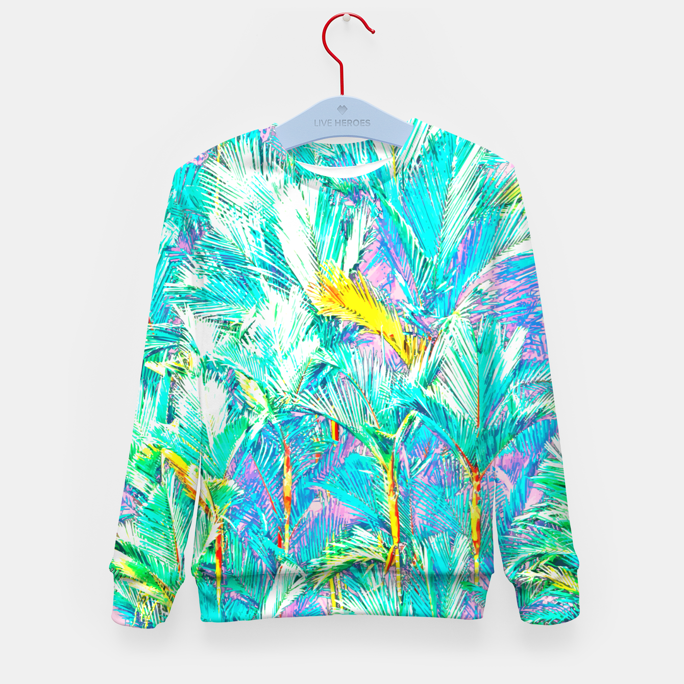 Image of Palm Garden, Tropical Nature Jungle Painting Kid's sweater - Live Heroes