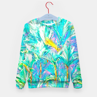 Thumbnail image of Palm Garden, Tropical Nature Jungle Painting Kid's sweater, Live Heroes
