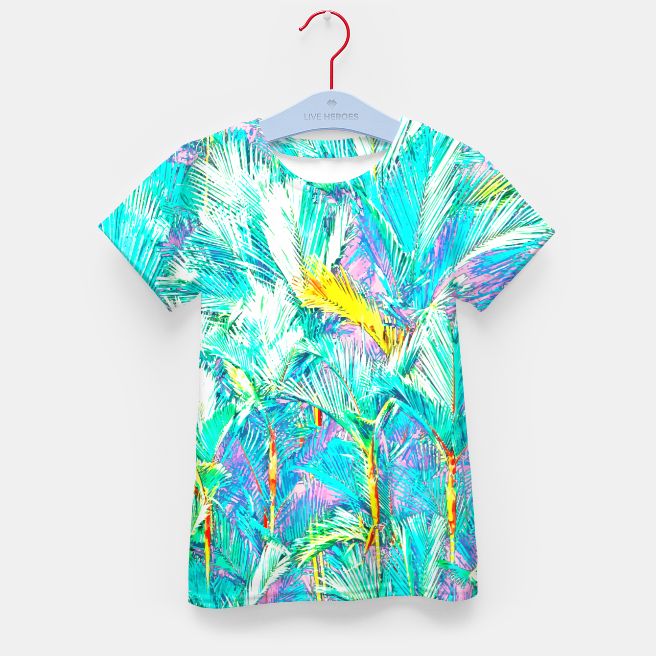 Image of Palm Garden, Tropical Nature Jungle Painting Kid's t-shirt - Live Heroes