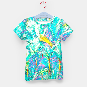 Thumbnail image of Palm Garden, Tropical Nature Jungle Painting Kid's t-shirt, Live Heroes
