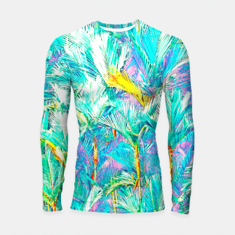Thumbnail image of Palm Garden, Tropical Nature Jungle Painting Longsleeve rashguard , Live Heroes