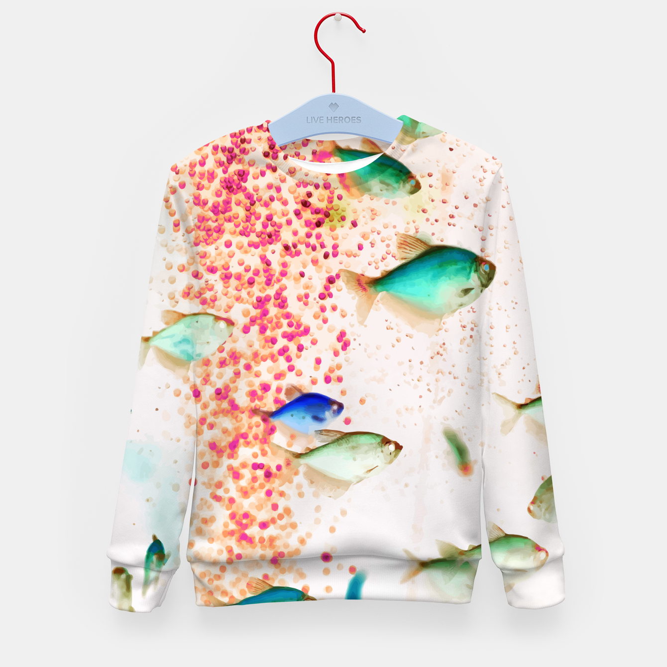 Image of Something Fishy Kid's sweater - Live Heroes