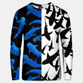 Thumbnail image of Double image of sharks Sudadera unisex, Live Heroes