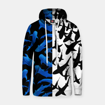 Thumbnail image of Double image of sharks Sudadera con capucha, Live Heroes