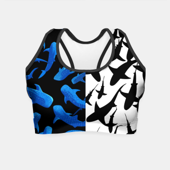 Thumbnail image of Double image of sharks Crop Top, Live Heroes