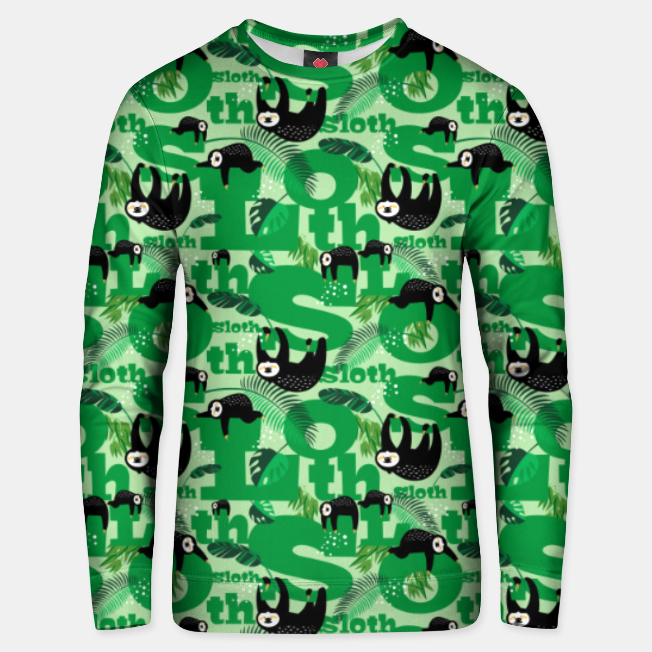 Image of Sloths and Typography Unisex sweater - Live Heroes