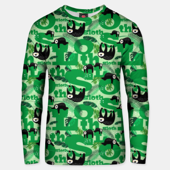 Thumbnail image of Sloths and Typography Unisex sweater, Live Heroes