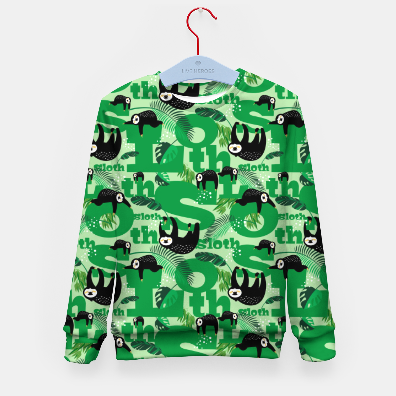 Image of Sloths and Typography Kid's sweater - Live Heroes