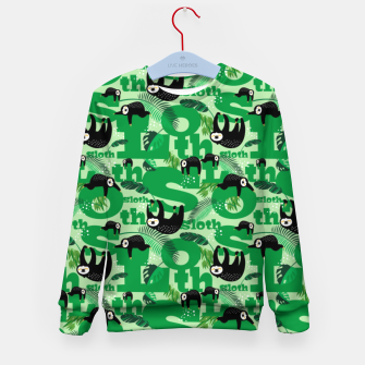 Thumbnail image of Sloths and Typography Kid's sweater, Live Heroes
