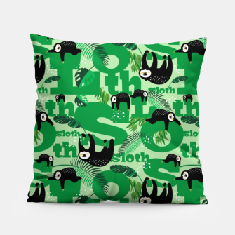 Thumbnail image of Sloths and Typography Pillow, Live Heroes