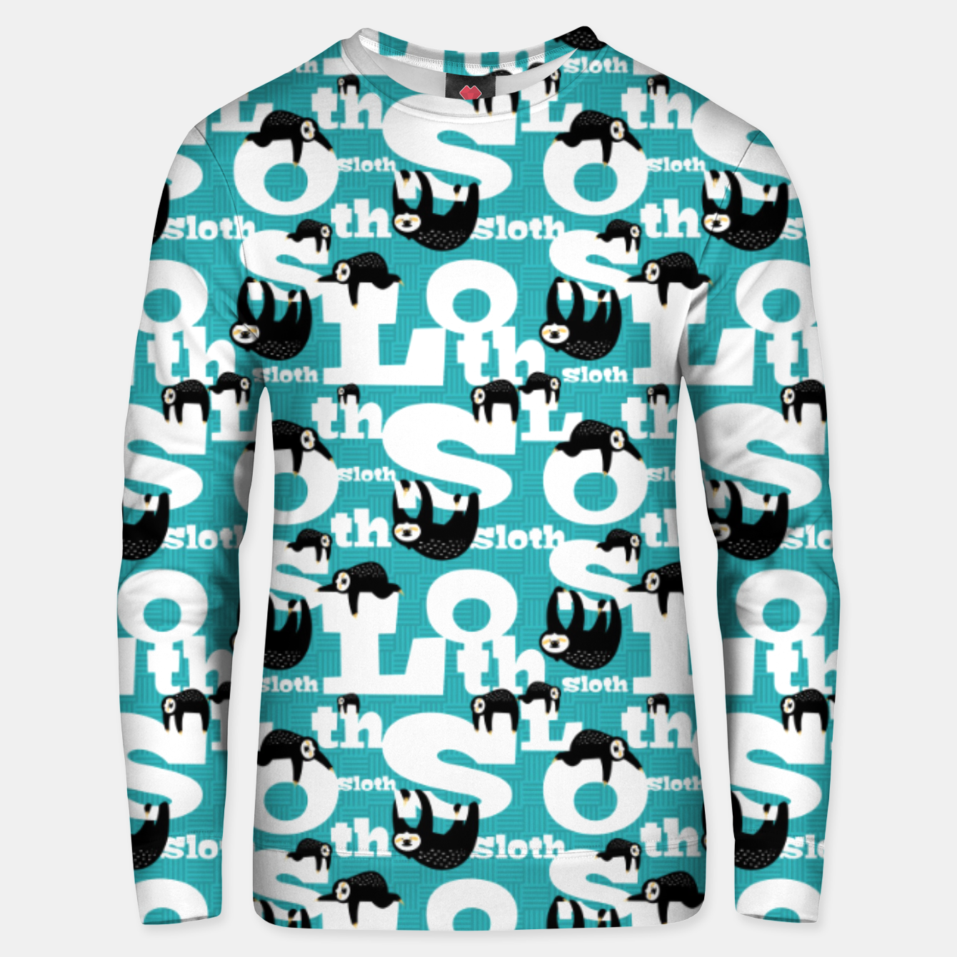 Image of Sloth and Typography Unisex sweater - Live Heroes