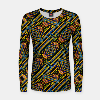 Thumbnail image of Electric Neon Lines Pattern Design Women sweater, Live Heroes