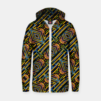 Thumbnail image of Electric Neon Lines Pattern Design Zip up hoodie, Live Heroes