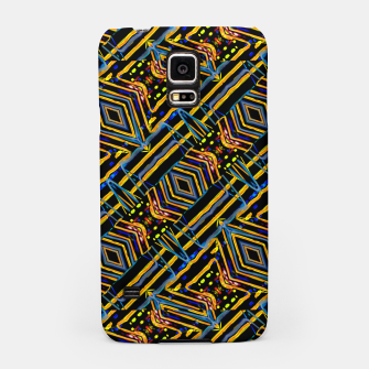 Thumbnail image of Electric Neon Lines Pattern Design Samsung Case, Live Heroes