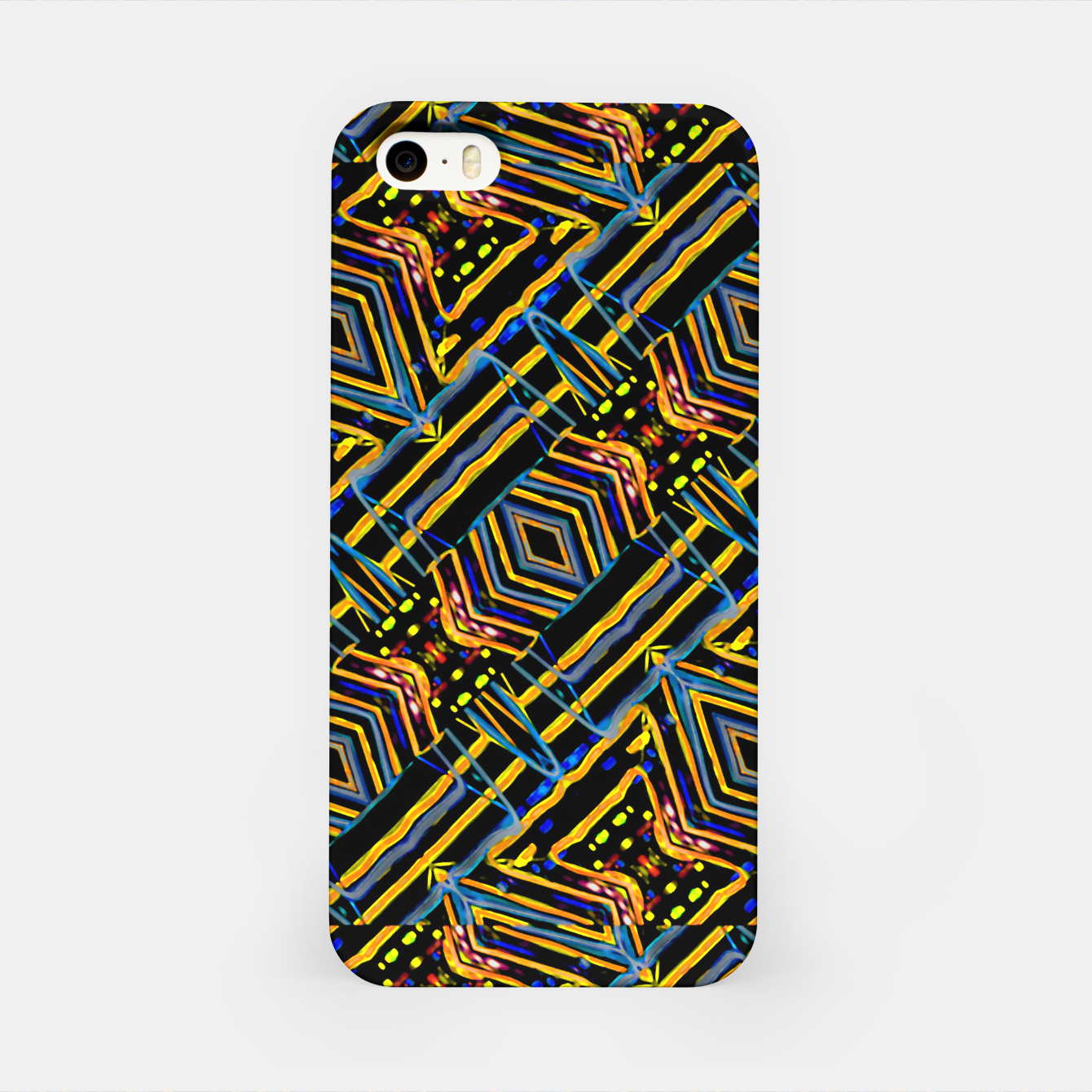 Image of Electric Neon Lines Pattern Design iPhone Case - Live Heroes