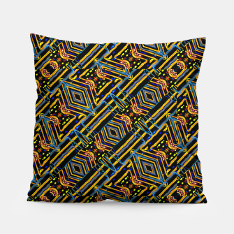 Thumbnail image of Electric Neon Lines Pattern Design Pillow, Live Heroes