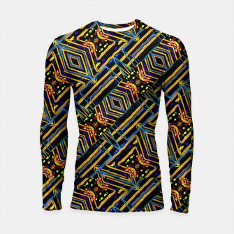 Thumbnail image of Electric Neon Lines Pattern Design Longsleeve rashguard , Live Heroes
