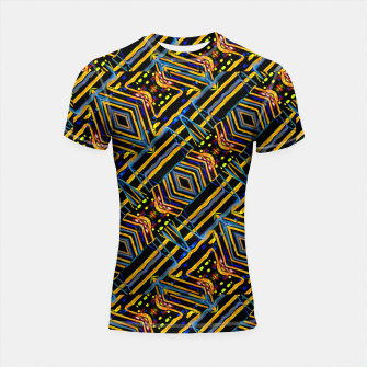 Thumbnail image of Electric Neon Lines Pattern Design Shortsleeve rashguard, Live Heroes