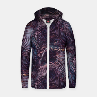 Thumbnail image of Amid the tropical jungle at night Zip up hoodie, Live Heroes