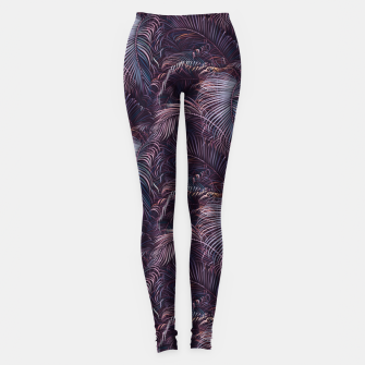 Thumbnail image of Amid the tropical jungle at night Leggings, Live Heroes